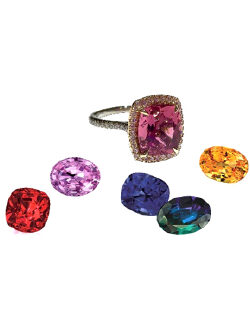 Colored jewelry
